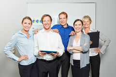 Businesspeople as business team in office Stock Photos