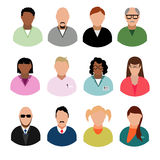 Businesspeople avatars Males and females business profile picture Royalty Free Stock Image