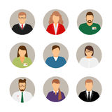 Businesspeople avatars. Males and females business profile pictures vector illustration