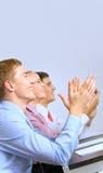 Businesspeople bij presentatie stock foto's