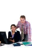 Businesspeople in bureau royalty-vrije stock afbeeldingen