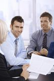 Businesspeople busy working Stock Photo