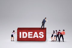 Businesspeople carry business ideas Royalty Free Stock Image