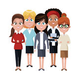 Businesspeople cartoon icon. Businesspeople wearing executive clothes over white background. colorful design. vector illustration vector illustration