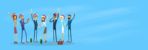 Businesspeople Celebrate Merry Christmas And Happy Royalty Free Stock Image
