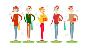 Businesspeople Celebrate Merry Christmas And Happy New Year Business People Team Santa Hat Stock Photo