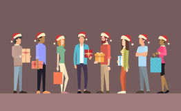 Businesspeople Celebrate Merry Christmas And Happy New Year Business People Team Santa Hat Royalty Free Stock Photos