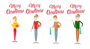 Businesspeople Celebrate Merry Christmas And Happy New Year Business People Team Santa Hat Stock Images
