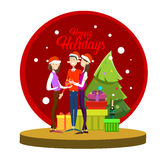 Businesspeople Celebrate Merry Christmas And Happy New Year People Group Santa Hat Stock Photography