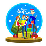 Businesspeople Celebrate Merry Christmas And Happy New Year People Group Santa Hat Royalty Free Stock Photography
