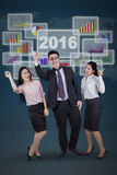 Businesspeople celebrate their success together Stock Image