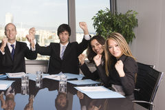 Businesspeople celebrating Royalty Free Stock Photos