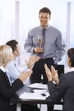 Businesspeople celebrating success Royalty Free Stock Photo
