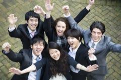 Businesspeople celebrating success Stock Image