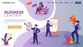Businesspeople Characters at Workflow Process vector illustration