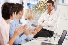 Businesspeople clapping Royalty Free Stock Image