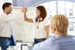 Businesspeople clapping high five Royalty Free Stock Photos