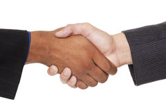 Businesspeople - closeup handshake Royalty Free Stock Images