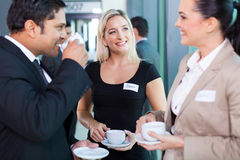 Businesspeople coffee break Stock Photo