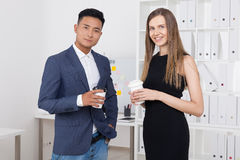 Businesspeople with coffee Stock Image