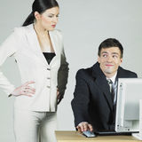 Businesspeople at computer Royalty Free Stock Images