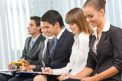 Businesspeople at conference Stock Photos