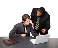 Businesspeople - conference laptop Royalty Free Stock Photo