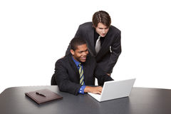 Businesspeople - conference laptop Stock Images