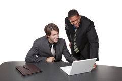 Businesspeople - conference laptop Royalty Free Stock Images
