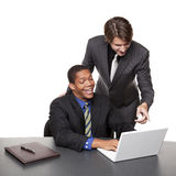 Businesspeople - conference laptop Royalty Free Stock Photography