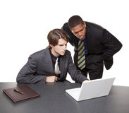 Businesspeople - conference laptop Royalty Free Stock Photos