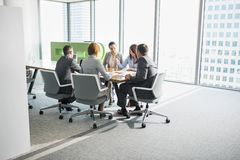 Businesspeople in conference room Royalty Free Stock Images