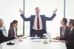 Businesspeople in conference room Stock Photo
