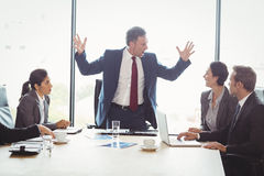 Businesspeople in conference room Royalty Free Stock Photos