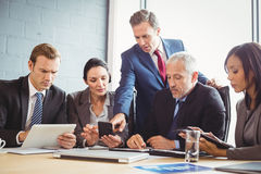 Businesspeople in conference room Stock Photography