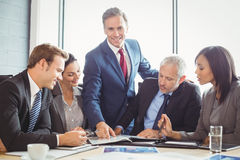 Businesspeople in conference room Stock Images
