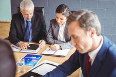 Businesspeople in conference room Royalty Free Stock Photography