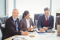Businesspeople in conference room Royalty Free Stock Photo