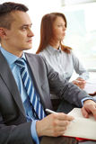 Businesspeople at conference royalty free stock photos