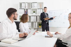 Businesspeople cooperation at meeting Stock Image