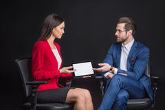 Businesspeople with digital tablet Stock Photography