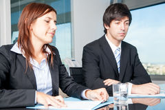 Businesspeople disappointed during negotiations Royalty Free Stock Photo