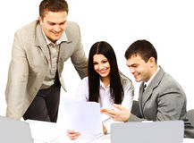 Businesspeople discuss the new project Royalty Free Stock Image