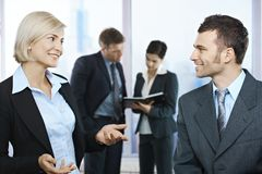 Businesspeople in discussion Royalty Free Stock Image