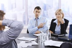 Businesspeople in discussion Royalty Free Stock Images