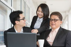 Businesspeople discussion at cafe Stock Image