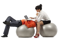 Businesspeople doing exercise Royalty Free Stock Photo