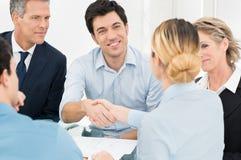 Businesspeople Doing Handshake Stock Images
