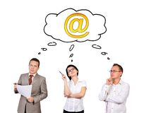 Businesspeople dreaming. On white background Stock Images