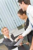Businesspeople drie op kantoor Royalty-vrije Stock Foto